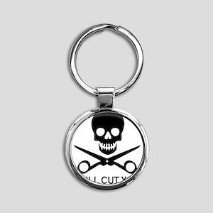 Beauty Shop Pirate 1 Round Keychain