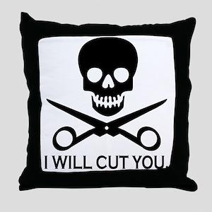 Beauty Shop Pirate 1 Throw Pillow