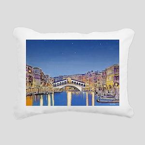 Stars Over Venice Rectangular Canvas Pillow