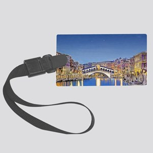 Stars Over Venice Large Luggage Tag