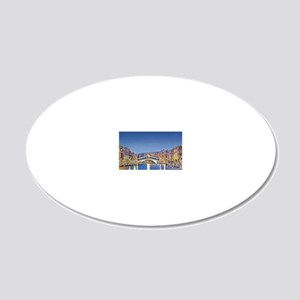 Stars Over Venice 20x12 Oval Wall Decal