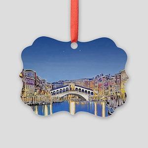Stars Over Venice Picture Ornament