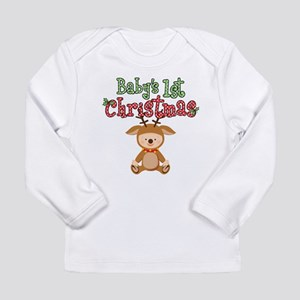 1st Christmas Baby Reindeer Long Sleeve Infant T-S