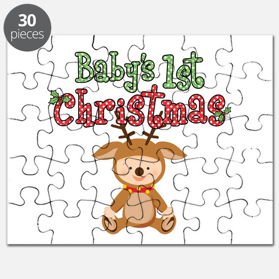 1st Christmas Baby Reindeer Puzzle