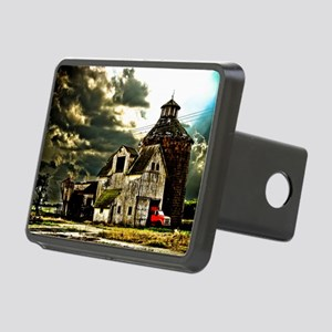 Stormy Old Barn and Silo Rectangular Hitch Cover