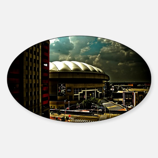 RCA Dome Indianapolis Indiana Sticker (Oval)