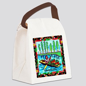 lachalupa12by12 doubleborder Canvas Lunch Bag