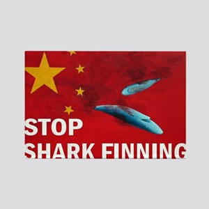 shark-finning-cards Rectangle Magnet