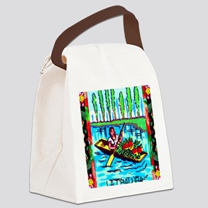 lachalupa9by12doubleborder Canvas Lunch Bag