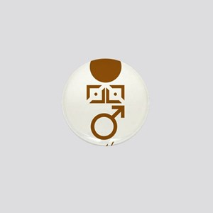 Symbol_Brwn_Hom_Nude_VbtmT Mini Button