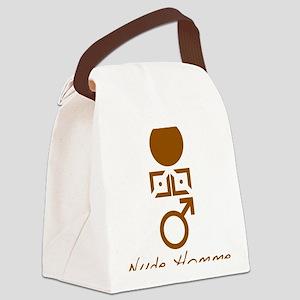 Symbol_Brwn_Hom_Nude_VbtmT Canvas Lunch Bag