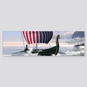 Wonderful longboat, vikking ship Bumper Sticker