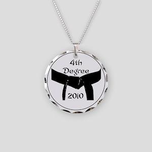 4th dan black belt 2010 Necklace Circle Charm