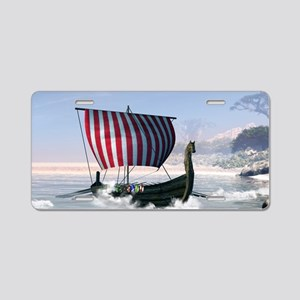 Wonderful longboat, vikking ship Aluminum License
