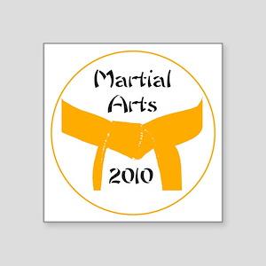 "orange belt 2010 Square Sticker 3"" x 3"""