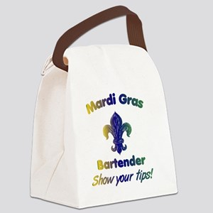 mardi-gras-show-your-tips Canvas Lunch Bag