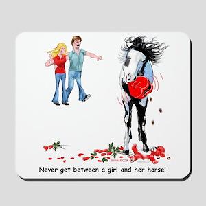 Horse's Valentine Revenge Mousepad