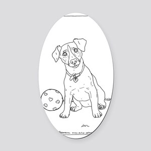 2-little_terrier_cp Oval Car Magnet