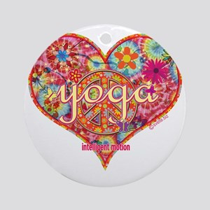 yoga intelligent motion Round Ornament