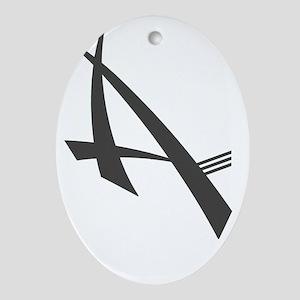 Anii Carbon Oval Ornament