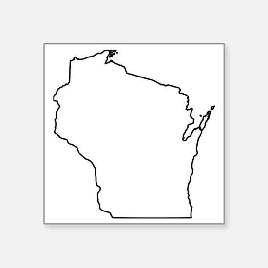 "wisconsin Square Sticker 3"" x 3"""