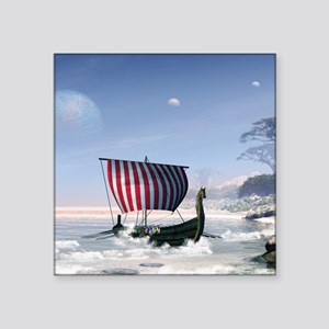 Wonderful longboat, vikking ship Sticker