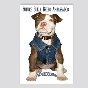 PuppyBullyBreed copy Postcards (Package of 8)