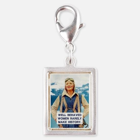 Well Behaved Women Silver Portrait Charm