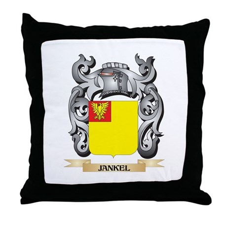 Jankoff Coat of Arms - Family Crest Throw Pillow