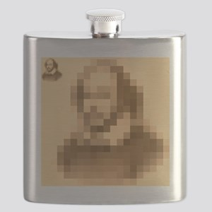 Pixelated Shakespeare Flask