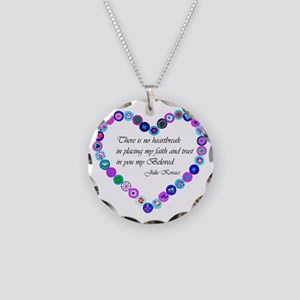 millefiori_heart Necklace Circle Charm