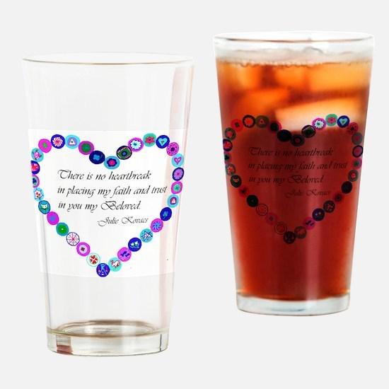 millefiori_heart Drinking Glass