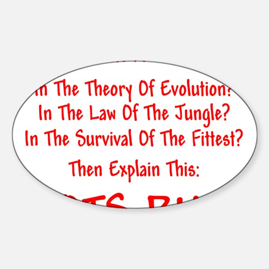 SURVIVAL-IDIOTS Sticker (Oval)