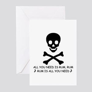 ALL YOU NEED IS RUM Greeting Cards (Pk of 10)