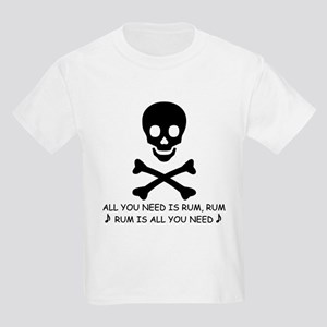 ALL YOU NEED IS RUM Kids T-Shirt
