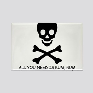 ALL YOU NEED IS RUM Rectangle Magnet