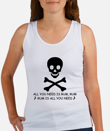 ALL YOU NEED IS RUM Women's Tank Top