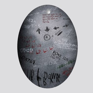 Cheat Codes Poster Oval Ornament