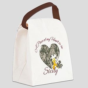 APieceofMyheartisinIraqSicily Canvas Lunch Bag