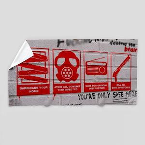 zombie apocalypse poster Beach Towel