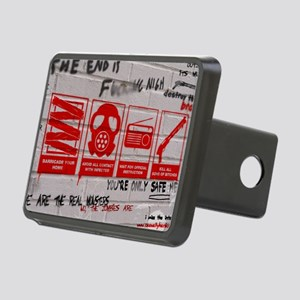 zombie apocalypse poster Rectangular Hitch Cover