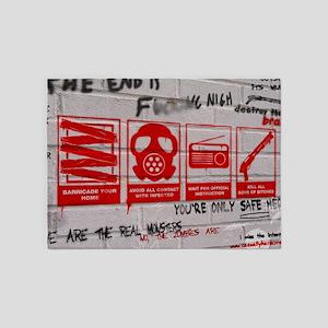 zombie apocalypse poster 5'x7'Area Rug
