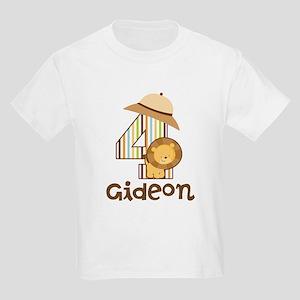 4th Birthday Safari Jungle Kids Light T-Shirt