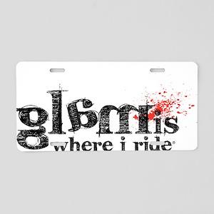 glamisride Aluminum License Plate