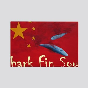 shark-fin-soup-t-shirt2 Rectangle Magnet