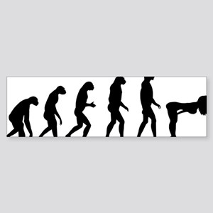 evolution girl Sticker (Bumper)