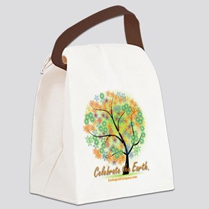 oval flower tree design Canvas Lunch Bag