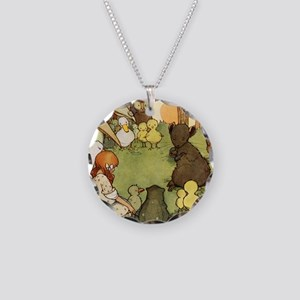 Alice in Wonderland007 SQ Necklace Circle Charm