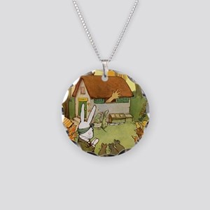 Alice in Wonderland008 SQ Necklace Circle Charm