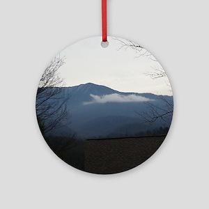 Smoky Mountains Round Ornament